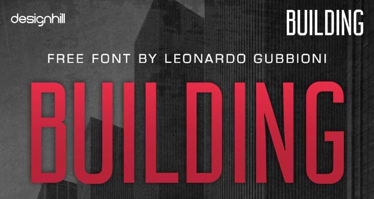 Building logo font