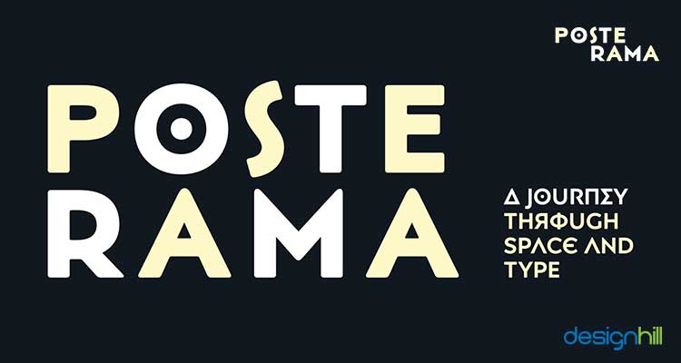 Posterama logo font