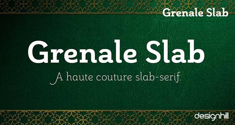 Grenale Slab font logo