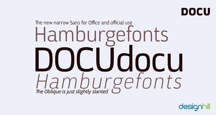 Docu logo font