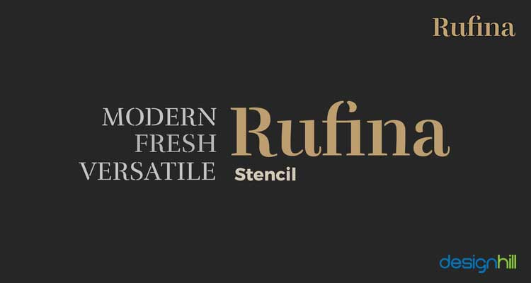 Rufina logo font