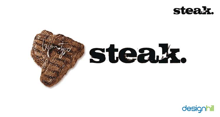 Steak logo font