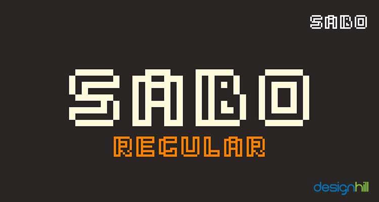 Sabo logo font