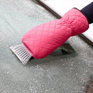 Ice scraper glove