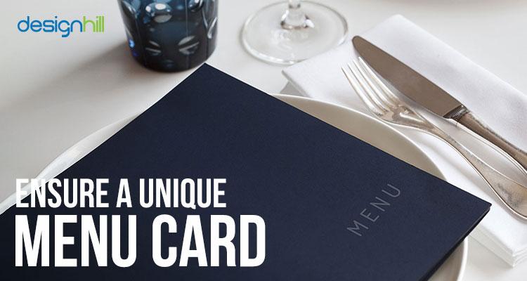 Unique Menu Card