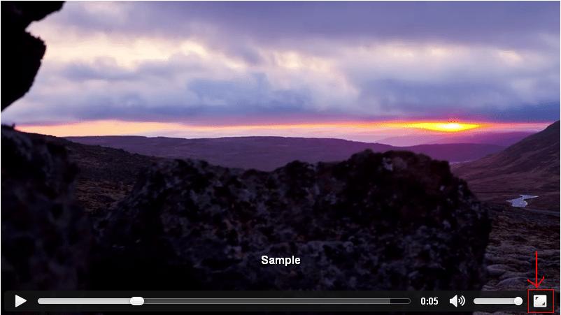 Full-Screen Video