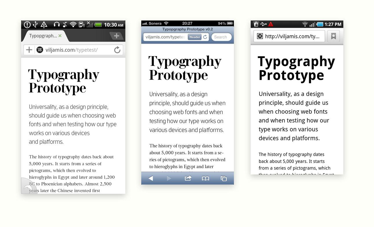 Scalable typography