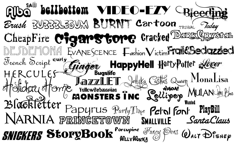 multiple font image