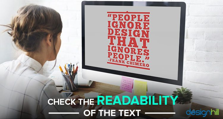 Readability Of The Text