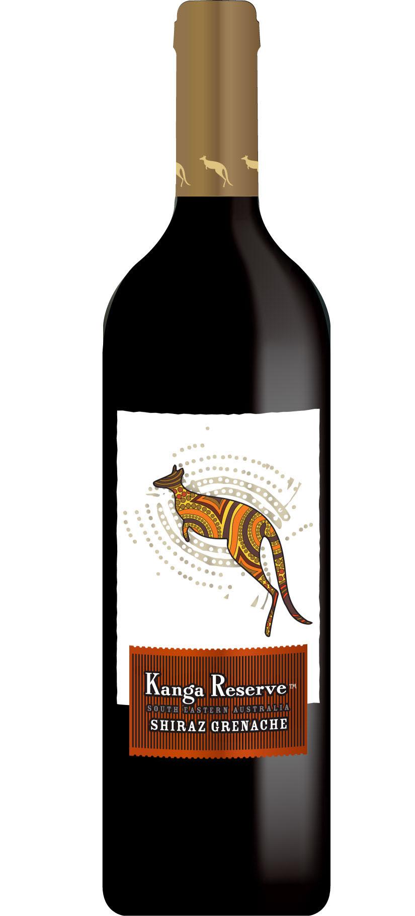 Kangaroo wine label