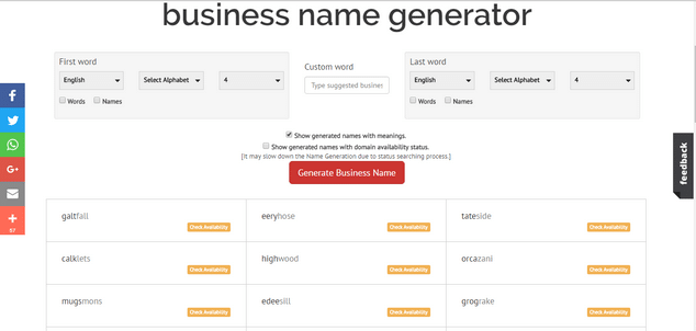 Name Generator Tools