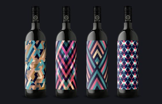 bold and solid wine label design