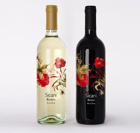 flowers wine label