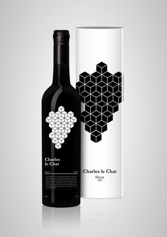 geometrics wine label