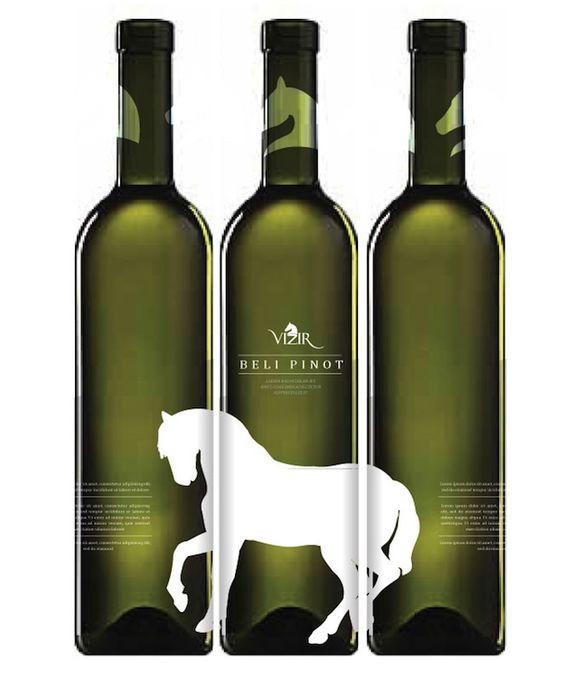 horse wine label