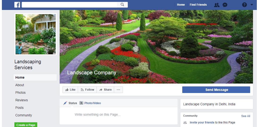 landscaping social media