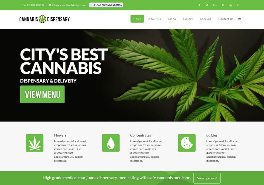cannabis business website