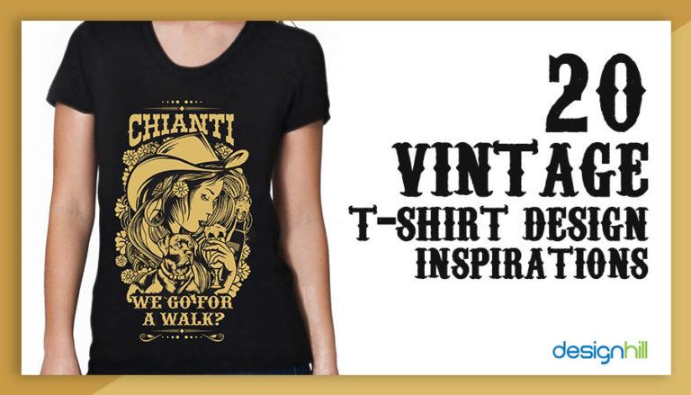 2180a0c06 20 Vintage T-shirt Design Inspirations