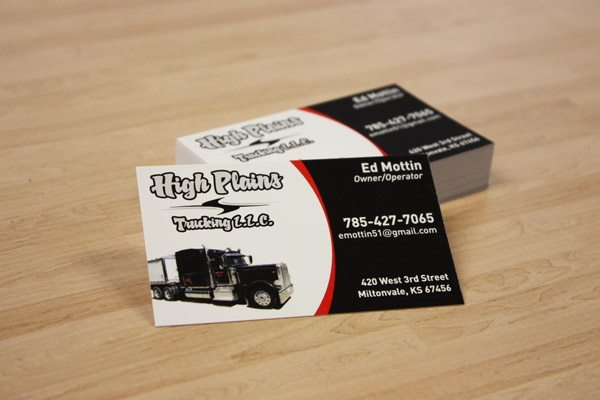 How to start an awesome trucking business business cards colourmoves
