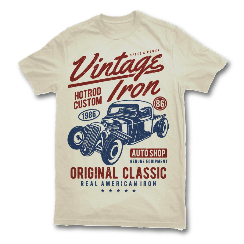 20 vintage t shirt design inspirations designhill for Vintage screen print t shirts