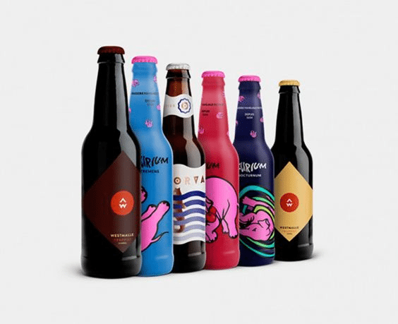 different color beer bottle label designs
