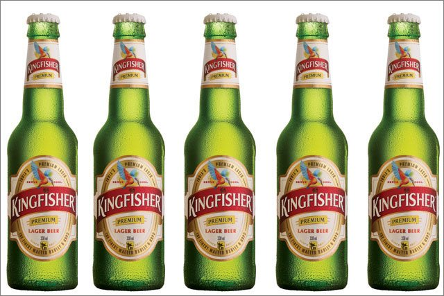 kingfishers beer label design