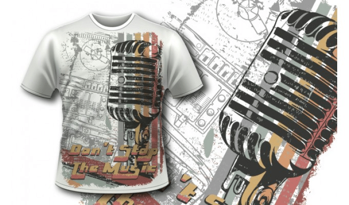 microphone t shirt
