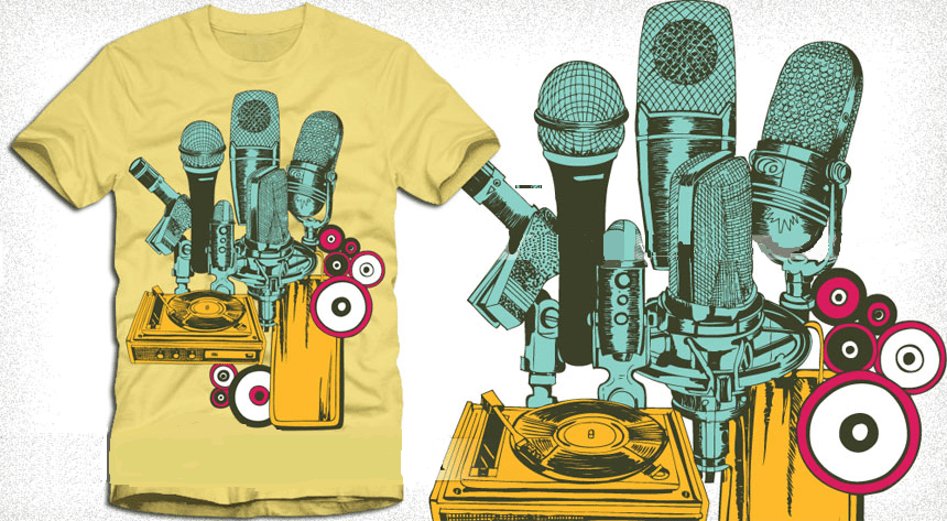 microphones t shirt