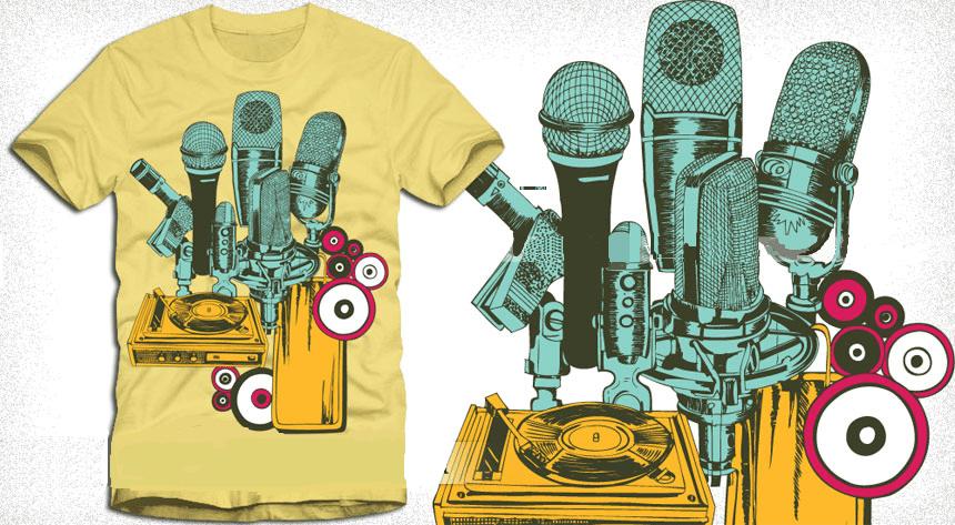 microphones t shirt