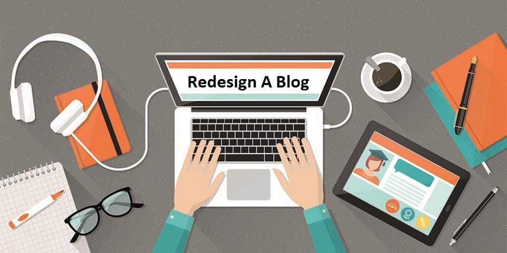 redesign a blog
