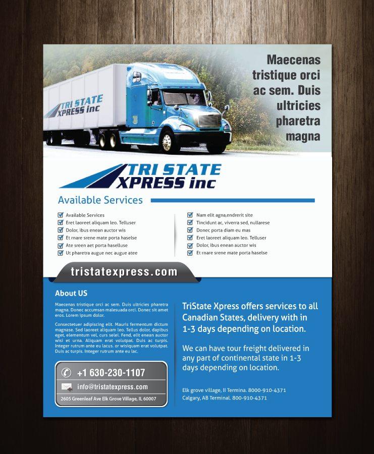 trucking flyer
