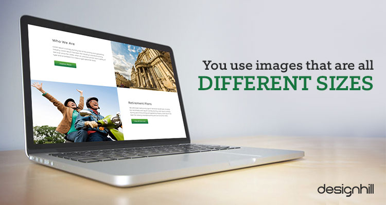 Use Different Sizes Images
