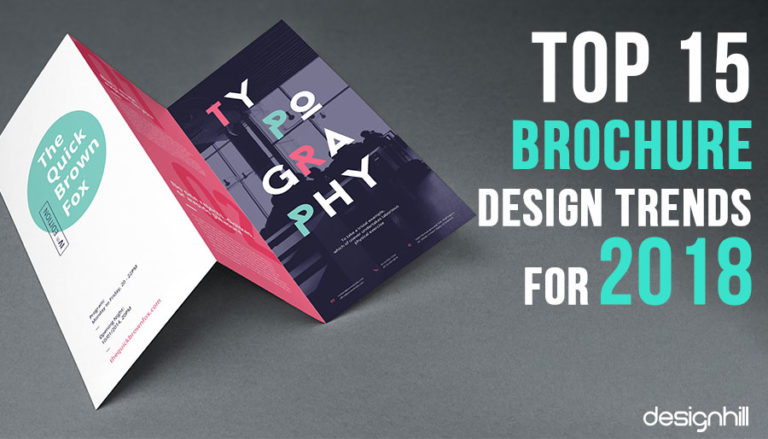 top 15 brochure design trends for 2018
