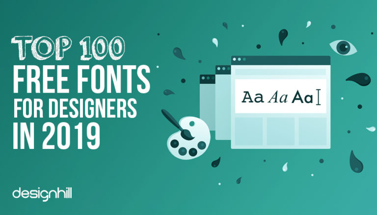 Top 100 Free Fonts For Designers In 2019