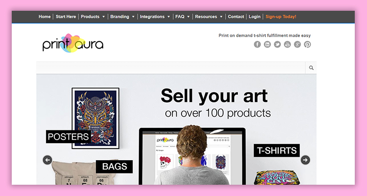 c95c69973 PrintAura is the platform where you realize your t-shirt design ideas and get  printed shirts. It is an on-demand printing site that you can also use as  your ...