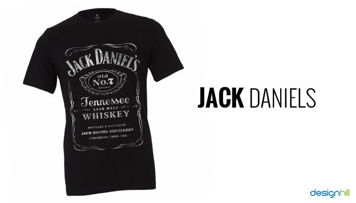 2a1310e0b97921 Jack Daniels. T-shirt with the popular alcohol label perfectly goes well  for Friday night party. A white print on the black tee makes this t-shirt  looks ...
