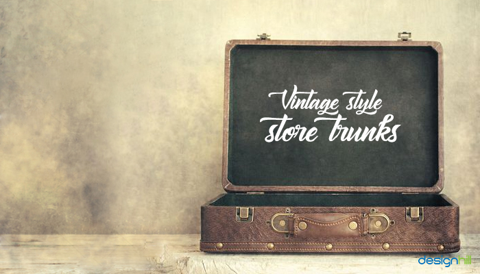 Vintage Style Store Trunks