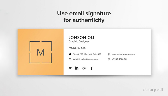 Email Signature For Authenticity