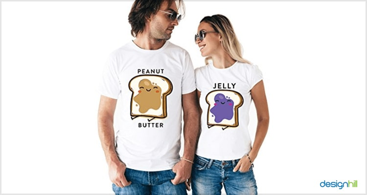 Peanut Butter And Jelly Couple T Shirt