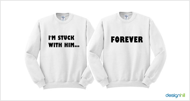 Him/ Her Forever Couple T Shirt