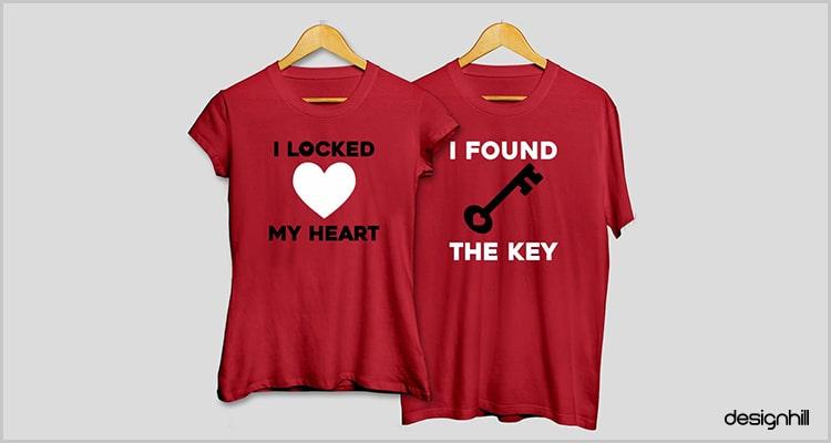 Locked Hear, Found Key Couple T Shirt