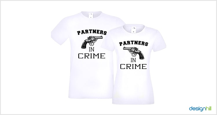 Crime Couple T Shirt
