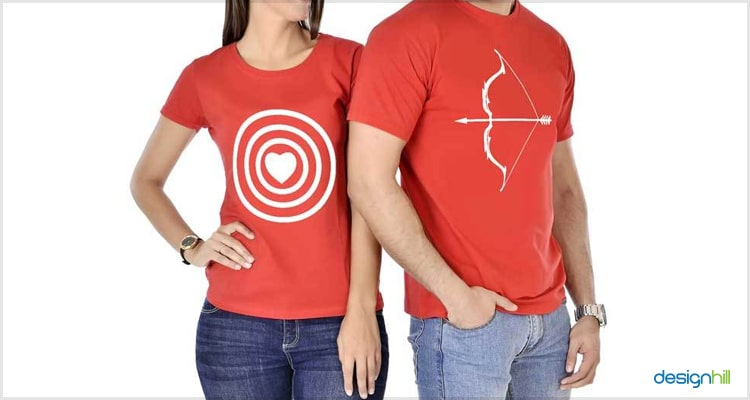Bow And Arrow Couple T Shirt