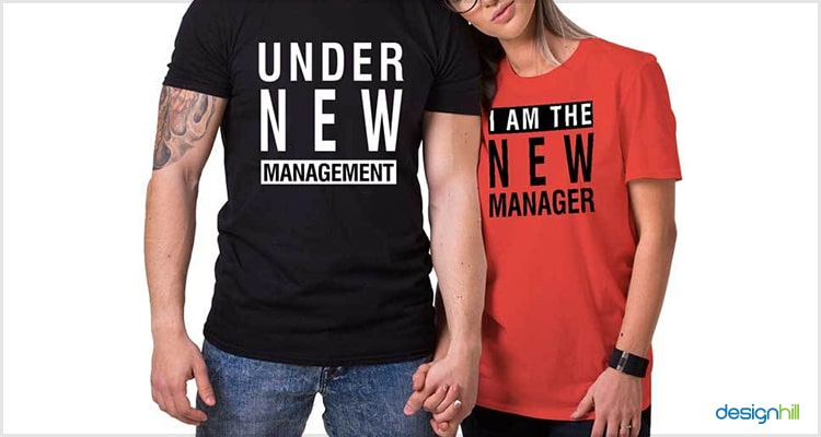 New Management Couple T Shirt