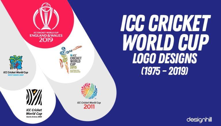 Icc Cricket World Cup Logo Designs 1975 2019