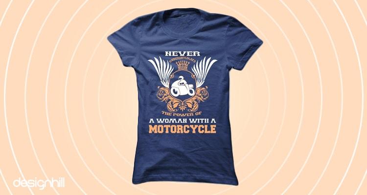 Ladies Funny Biker T-Shirt Motorbike Racing Bike Dont Stop Riding