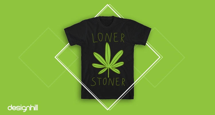 Marijuana Leaf Design Cannabis Pot Women/'s Novelty T-Shirt