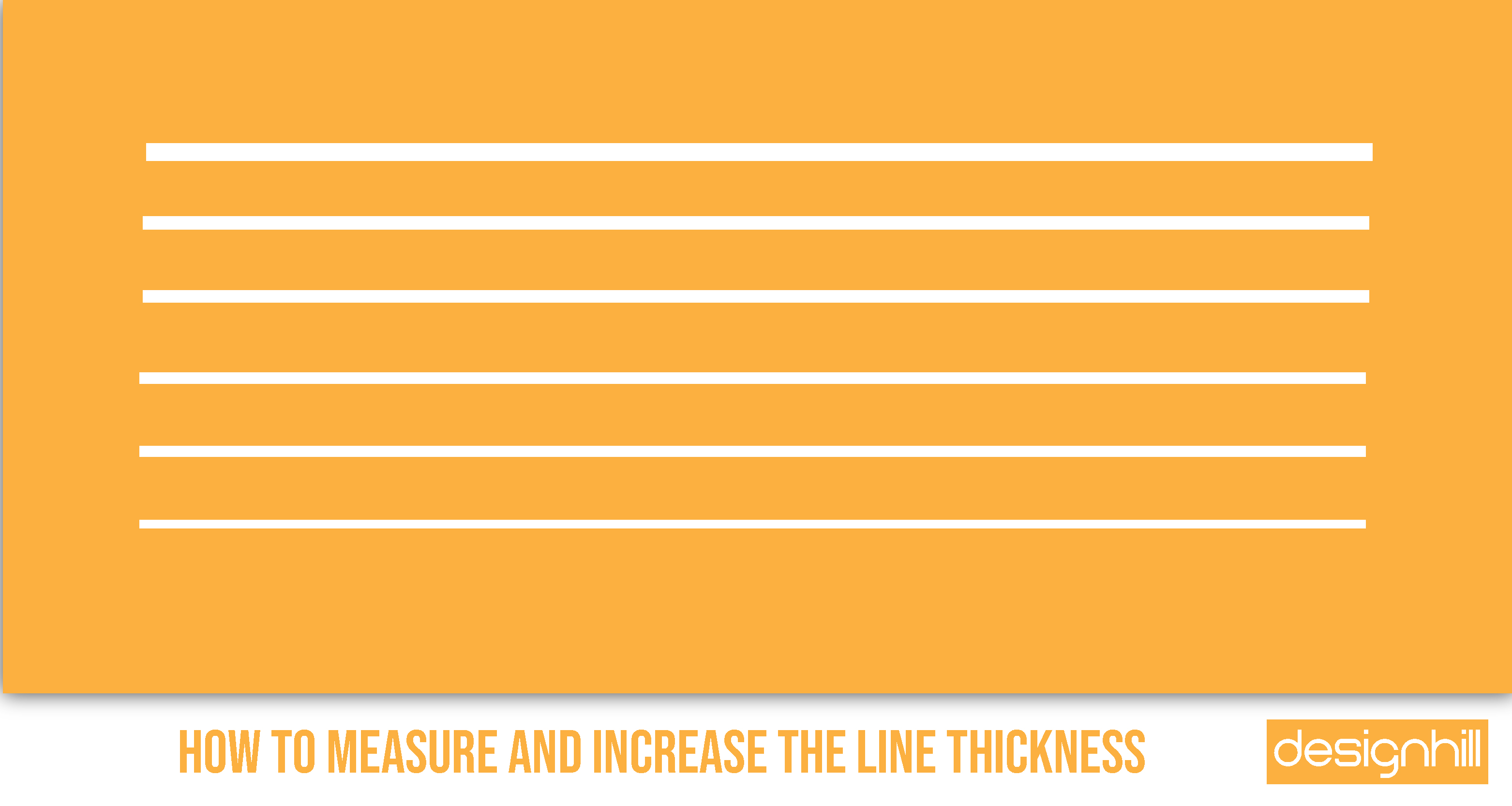 How To Measure And Increase The Line Thickness
