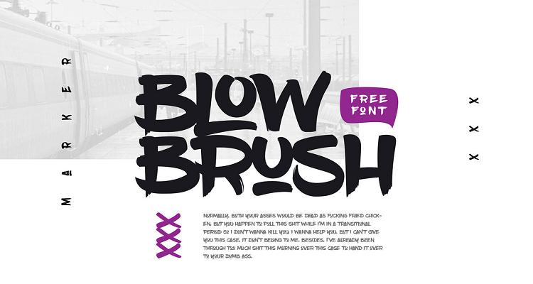 Blow Brush Handwritten Logo Fonts