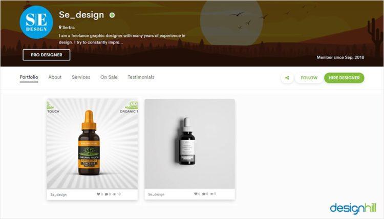 freelance label designer